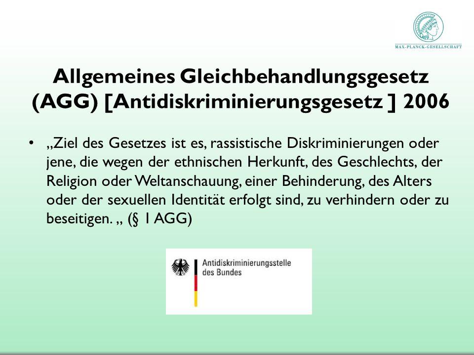 Allgemeines Gleichbehandlungsgesetz (AGG) [Antidiskriminierungsgesetz ] 2006